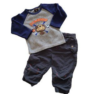 ☘️3/$30☘️ 2 pc Blue & Gray Outfit 24 months